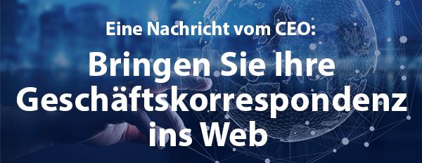 Bringen Sie Ihre Geschäftskorrespondenz ins Web