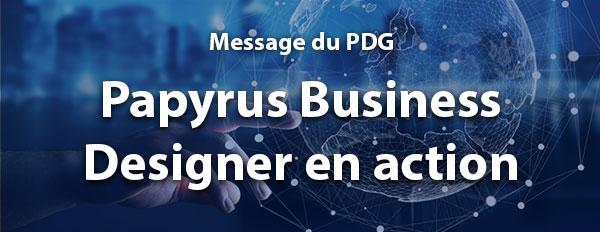 Papyrus Business Designer en action
