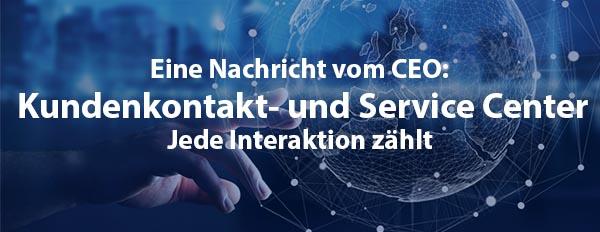 Das Kundenkontakt- und Service Center, wo jede Interaktion zählt