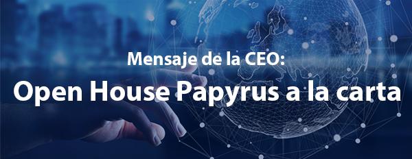 Open House Papyrus a la carta