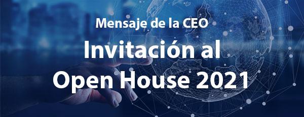 Invitación al Open House 2021