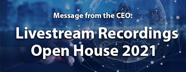 Livestream Recordings Open House 2021